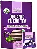 Organic Puerh Tea - Premium Quality Fermented Puerh Tea - Energizing, Detoxifying and Delicious -...