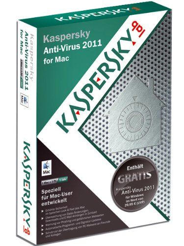 Kaspersky Anti Virus 2011 for MAC, 1 User, 1 Year Subscription [import anglais]