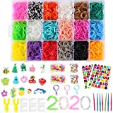 Loom Rubber Bands Refill Kit,370 Clips,110 Décor Beads,15 Charms,7 Crochet Hooks,3 Gadget...