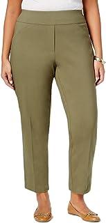Alfred Dunner Women's Plus Size Short Length Slim Leg Pant