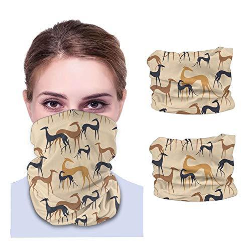 Sighthounds - Bandanas del desierto para la cara de la máscara del cuello, diademas pasamontañas variadas, cubierta mágica (2 unidades)