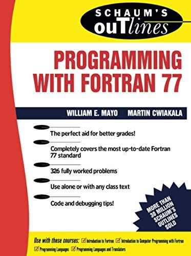 dsy ebook schaum s outline of programming with fortran 77 schaum s