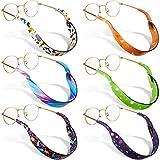 6 Pieces Kids Eyeglass Strap Nonslip Neoprene Glasses Holder Sunglasses Lanyard Eye Glasses Cord Holder Neck Strap Sports Safety Retainer for Boys Girls Kids (Animals, Stars)