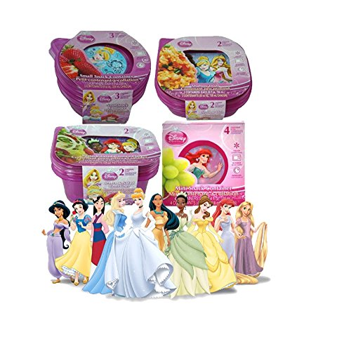 Disney Princess Grab & Go Meal/Snack Container Set - Featuring All Your Child's Favorites!