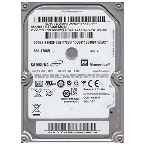 Seagate ST500LM012–2.5500GB SATA II 5400rpm 8MB HDD