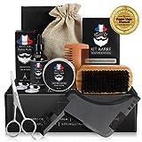 Bartpflege Set Geschenkset für Männer Bart Styling, 9 in 1 Bartpflege Bartwachstum Kit mit...