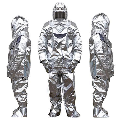 XIONGGG Tuta Isolante Tuta Anti Radiazioni Termiche Tuta Ignifuga Tuta Ritardante di Fiamma Set Completo, Uniforme Pompiere, 500/1000 Gradi,1000 °C