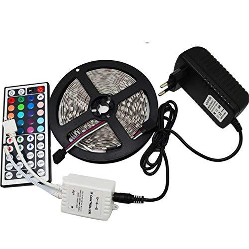 10LM 36W Strisce LED 5050 Kit Controllo della Musica RGB Striscia di Luce con Telecomando 44Key per Casa, Armadio, Soffitto, Bar,5M Waterproof