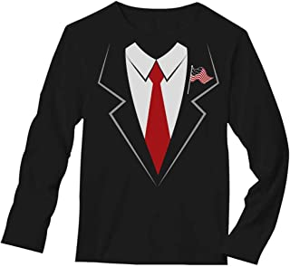 Donald Trump Suit & Tie Easy Halloween Costume Long Sleeve T-Shirt