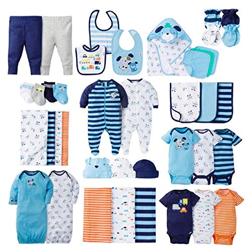 Gerber Newborn Baby-Boys 40-Piece Essentials Layette Gift Set