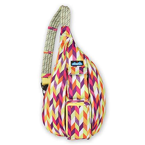 KAVU Original Rope Sling Bag Polyester Crossbody Backpack - Chevron Punch