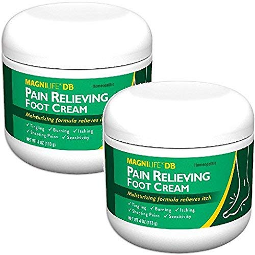 MagniLife DB Pain Relieving Foot Cream, Calming Relief for Burning, Tingling, Shooting & Stabbing Foot Pain, Moisturizing Foot Cream Suitable for Diabetic and Sensitive Skin - 2 Packs of 4 oz