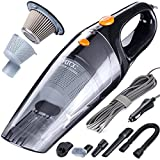 MATCC Car Vacuum Cleaner High Power DC 12V 110W 5500PA Handheld Portable Wet/Dry Auto Vacuum Cleaner for Car, 2 HEPA Filters, 16.4FT(5M) Power Cord with 5 Car Vacuum Attachments