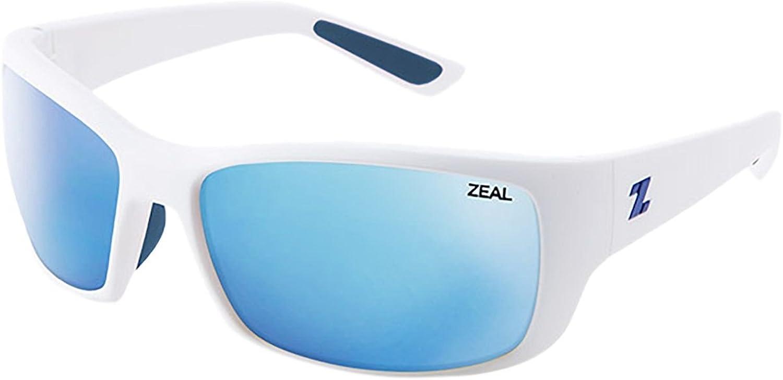 Zeal Optics Unisex Tracker (White River Frame, Horizon bluee Lens)