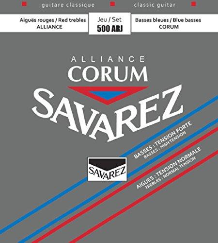 Savarez 500ARJ Saiten für Klassikgitarre Alliance Corum 500 ARJ Medium Tension Satz rot/blau (standard/high)