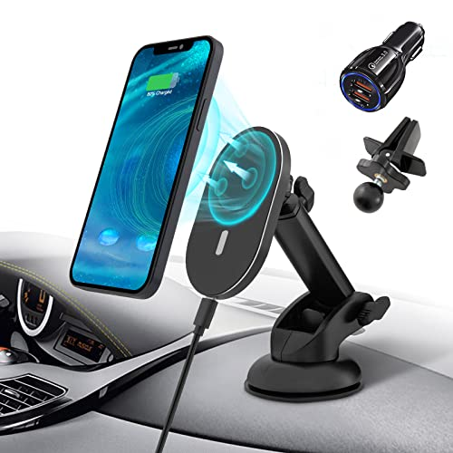Magnetic Wireless Car Charger for iPhone 13/13...