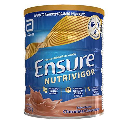 Ensure Nutrivigor - Complemento Alimenticio para Adultos, con HMB, Proteínas, Vitaminas y Minerales, como el Calcio - Sabor Chocolate - 850 g