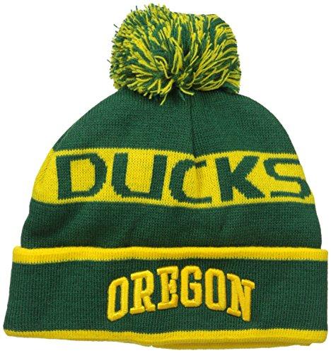 NCAA Oregon Ducks Pom Pom Knit Hat, One Size, Green