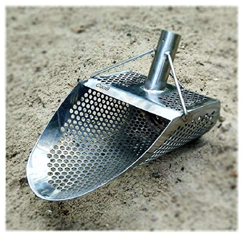 CooB Sand Scoop for Metal Detecting Hexagon 7 Beach Metal Detector Hunting Tool Stainless Steel