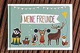 Meine Freunde: Ein Freundschaftsbuch - Freundebuch für Kinder zum Schreiben und Malen
