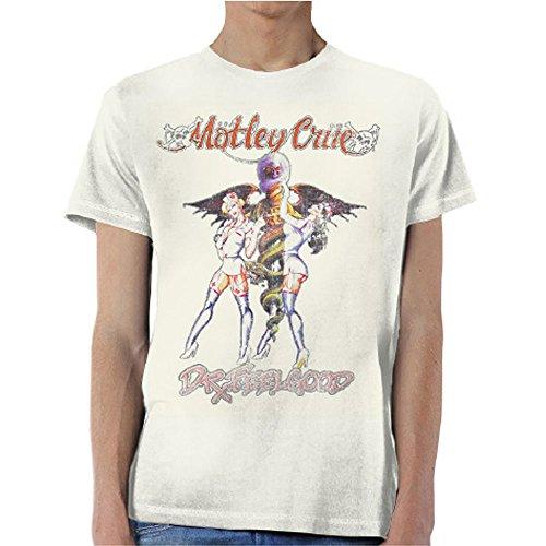 Motley Crue 'Dr Feelgood' (Sand) T-Shirt (Medium)
