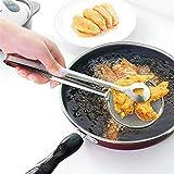 Adya 2PCS Cuchara de Filtro Multifuncional con Clip Food Kitchen Freidora de Aceite BBQ Filter Abrazadera de Acero Inoxidable Colador Gadgets de Cocina