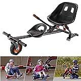 FLy Go Kart Asiento Ajustable Silla De Scooter Self Balance Diseño Extraíble De Dos Plazas Compatible con Todos Los Patinetes Eléctricos De 6.5, 8 Y 10 Pulgadas Go Karting Kart para Adultos Niños