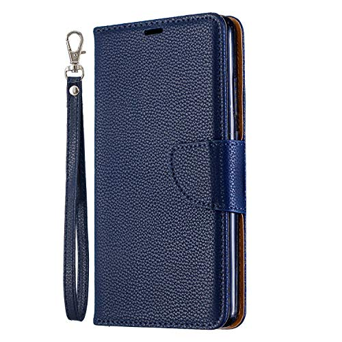 Leather Wallet Case for Nokia 2.1, Flip Case Leather with Kickstand,Folio Magnetic Closure Protective Cover with Card Slots for Nokia2.1 - DEBF100902 Blue