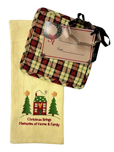 Park Christmas Dishtowel, Potholder and Holly Cookie Cutter Gift Set