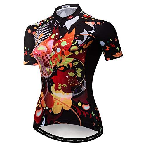 weimostar Damen-Radtrikot, schnelltrocknend, atmungsaktiv, für Mountainbike, Sport, Rennsport Gr. XX-Large, 35