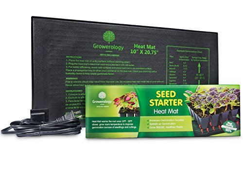 Growerology Waterproof Seedling Heat Mat for Seed Germination, Hydroponics and Plant...