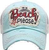 Mesh Dad Hat - Beach Please (Mint)