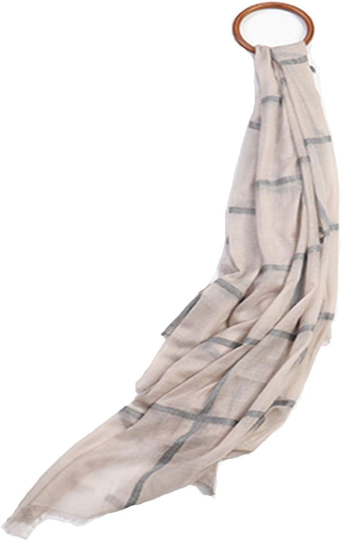 Fashion Simple Women Plaid Scarf Long Wool Autumn & Winter Warm Shawls for Girls