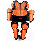ZXH Chaleco Protector para Motocicletas, Niño Armadura Profesional Protección del Cuerpo de Pecho Corporal Proteger Espalda Chaqueta de esquí Ropa Protectora(Naranja)