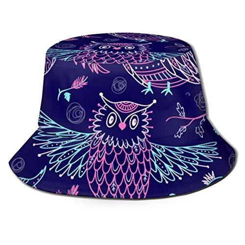leyhjai Drachen und Narzissen Blumen Unisex Fisherman Cap UV Sonnenschutz Sommer Outdoor Print Eimer Hut