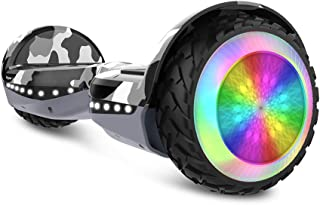 HYPER GOGO Hoverboard, Off Road All Terrain Hoverboards with Bluetooth Speaker, Colorful LED Light Wheels, UL Certified,6.5 inches Self Balancing Scooter