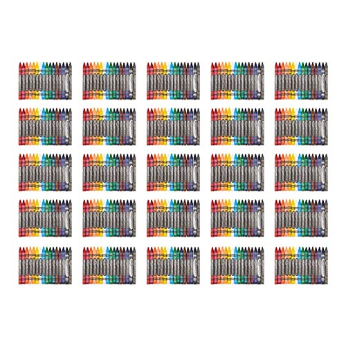 AmazonBasics Crayons - 16 Assorted Colors, 25-Pack