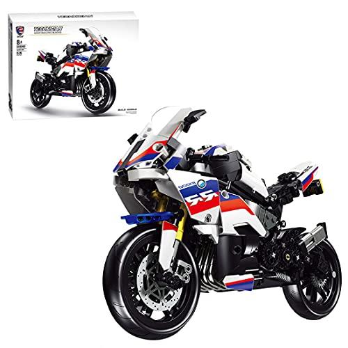 Bulokeliner Technik Motorrad für BMW S1000RR, Mechanical Rennwagen Modell, 826+Teile Supermotorrad Modell, Auto Spielzeug Kompatibel mit Lego Technic