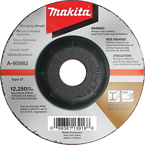 Makita A-80656 A-95962 Schruppscheibe 125mmINOX100Stk, Blau, Silber, 76x533 mm