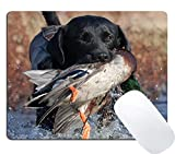 Wknoon Gaming Mouse Pad Custom Design, Duck Hunting Dog Puppy