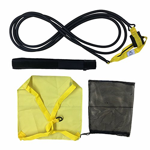Outdoor Swimming Belt w// Drag Parachute /& Elastic Tether for Resistance Training