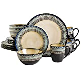Best Gibson Dinnerware Sets - Gibson Elite Round Embossed Reactive Glaze Stoneware Dinnerware Review
