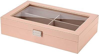MU Boîte de Rangement Portable de ménage boîte à Bijoux en Bois Massif/Simple Couche boîte de Rangement de Stockage de Bij...
