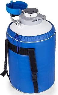 InLoveArts Liquid Nitrogen Container 6L Liquid Nitrogen Storage Tank Static Cryogenic Container