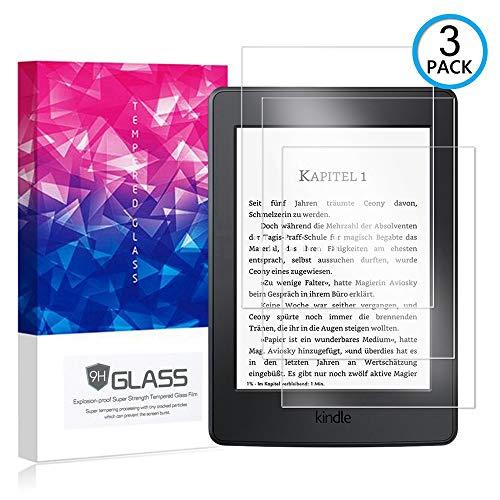 Ycloud [3 Pack] Protector de Pantalla para Amazon Kindle Paperwhite,[9H Dureza/0.3mm],[Alta Definicion] Cristal Vidrio Templado Protector para Amazon Kindle Paperwhite