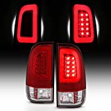 For 08-16 Ford F250 F350 F450 F550 SuperDuty LED Tube Red Tail Brake Lamps Left Driver+Right Passenger