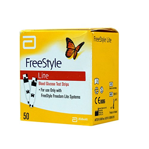 Freestyle lite glucose test strips 50 count from Abbott