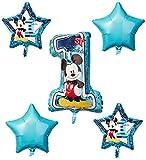 Amscan International–3434101'Mickey Mouse 1st cumpleaños ramo de globos de'