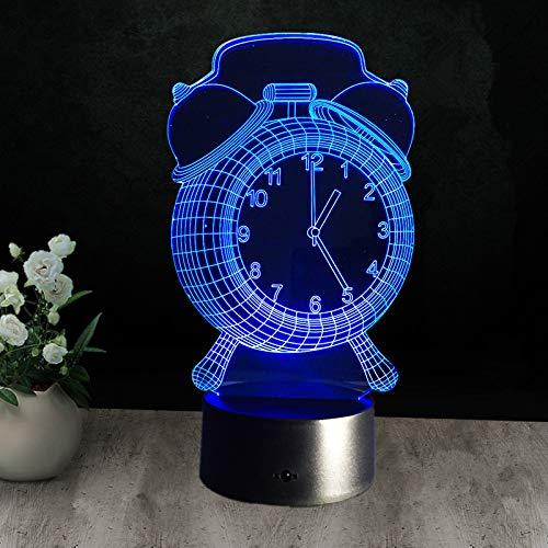 3D lamp bedlampje wekker nachtlampje voor de kinderkamer, led-lamp voor de woonkamer perfect geschenk voor kinderen