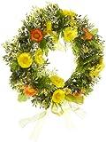 HEITMANN DECO Frühlings-Kranz - Türkranz mit Blumen, Dekoration für Frühling und Ostern - Kunststoff